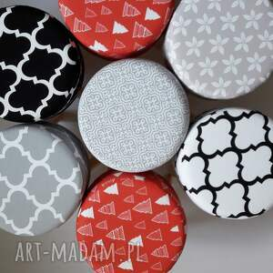 beżowe pufy taboret pufa szara mozaika 2 - 45 cm