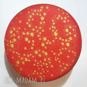 prezenty pod choinkę stołek pufa złote gwiazdki - 36