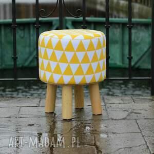 urokliwe pufy puf pufa żółty arlekin - 36 cm
