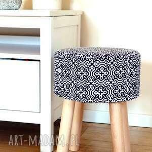 ręcznie wykonane pufy stołek fjerne m ( czarne