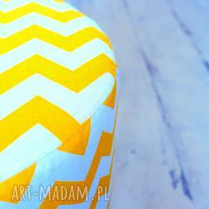 stołek pufy fjerne m (żółte zygzaki)