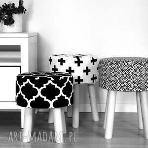 dekoracja pufy stołek fjerne m ( czarne