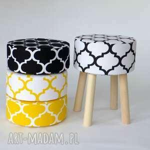 intrygujące pufy prezent stołek fjerne m biało-czarna