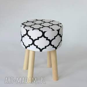 intrygujące pufy puf stołek fjerne m biało-czarna