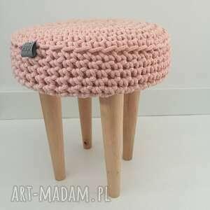 hand made pufy stołek-sznurkowy stołek grzybek