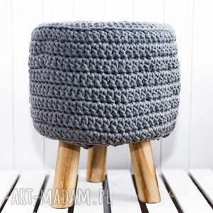 niesztampowe pufy puf stołek scandi ze sznurka