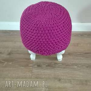 krzesło pufy stwórz swoją pufe na szydełku