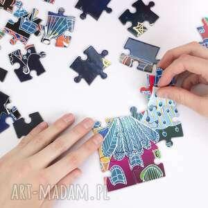 niebieskie art baśniowa noc - puzzle