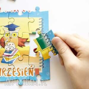 kolorowe sowy puzzle magnetyczne miesiące piękne