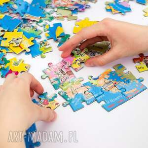 hand made puzzle mapa europy - magnetyczne