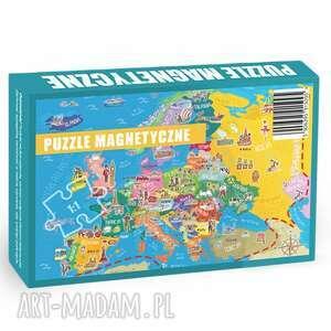 edukacja puzzle magnetyczne europa