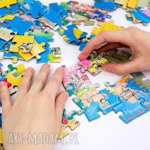 turkusowe puzzle mapa europy - magnetyczne