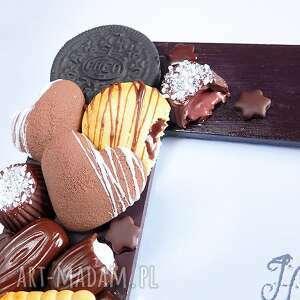 beżowe ramki brązowy czekoladowa ramka na zdjęcia