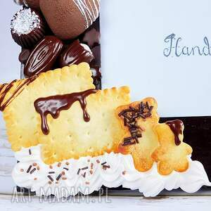beżowe ramki modelina czekoladowa ramka na zdjęcia