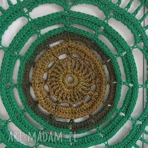 ramki: mandala 3D zielono - złota - HandMade boho