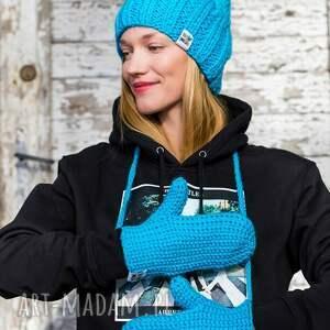 rękawiczki: Błękit do Wynajęcia - ciepłe