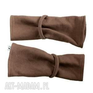 rękawiczki ciepłe mitenki - brązowe