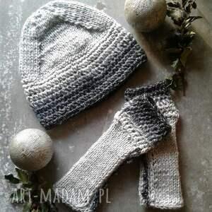 handmade rękawiczki komplet czapka i mitenki zamówienie