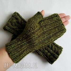 rękawiczki modne melanż zielony