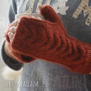 rękawiczki ciepłe miedziane mitenki