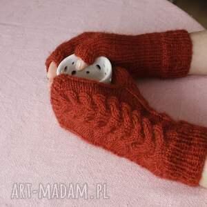 jaga11 rękawiczki wygodne miedziane mitenki