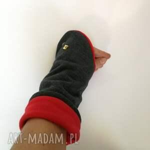 oryginalne rękawiczki mitenki dzianinowe