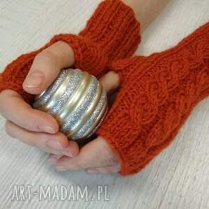eleganckie rękawiczki mitenki mitenki, rękawiczki, rude