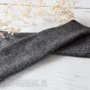 ręcznie robione rękawiczki mitenki brązowe