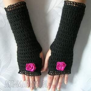 rękawiczki mitenki - czarne