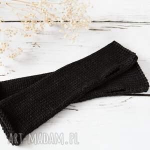 ręczne wykonanie rękawiczki mitenki czarne