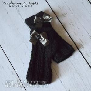 rękawiczki czarne mitenki