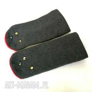 atrakcyjne rękawiczki mitenki dzianinowe
