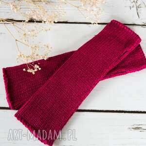 rękawiczki mitenki fioletowe