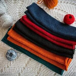 mitenki rękawiczki pomarańczowe granatowe