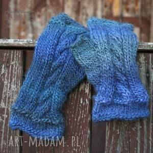 rękawiczki mitenki kobaltowe