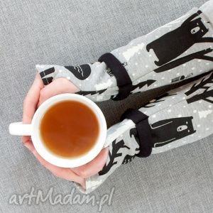 wyjątkowe rękawiczki mitenki - leśne miśki