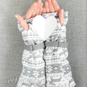 ręczne wykonanie rękawiczki skandynawski mitenki - norweskie wzory