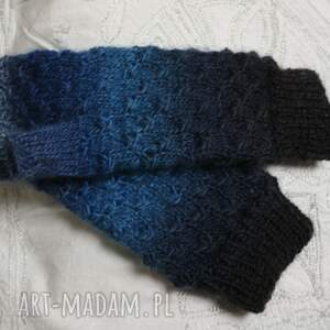 jaga11 wyraziste rękawiczki gwiazdki mitenki ombre niebieskie