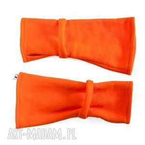 oryginalne rękawiczki mitenki - pomarańczowe