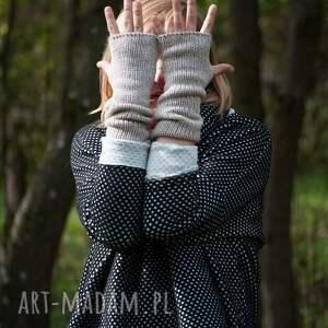 mitenki rękawiczki pomarańczowe