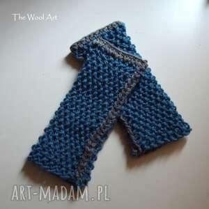 rękawiczki mitenki w kolorze jeans