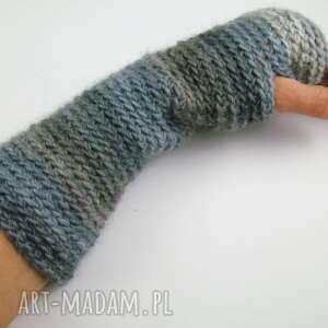 BARSKA ręczne wykonanie rękawiczki mitenki w szarościach