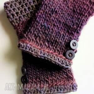 wełniane rękawiczki mitenki