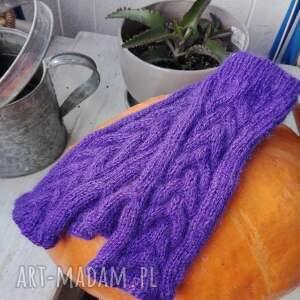 frapujące rękawiczki rękodzieło mitenki z kłoskiem