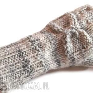 niepowtarzalne rękawiczki kokardka mitenki z kokardką