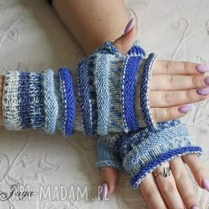 rękawiczki mitnki mitenki z szafirem