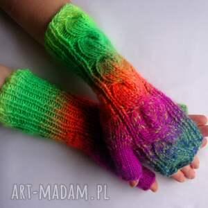 oryginalne rękawiczki kolorowe multikolor***