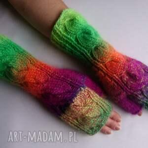oryginalne rękawiczki ciepłe multikolor***