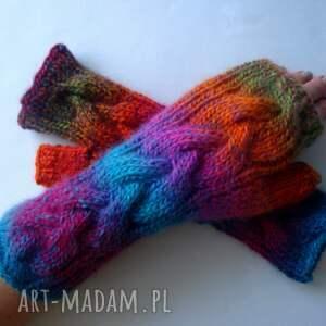 eleganckie rękawiczki ciepłe multikolor