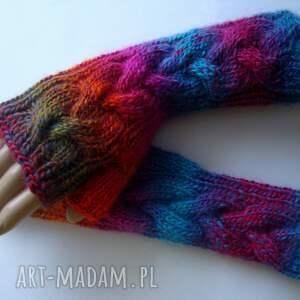 modne rękawiczki multikolor